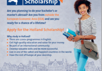 Holland Scholarships 2020/2021 for Bachelor's or Masters Study in the Netherlands (5,000 Euros)